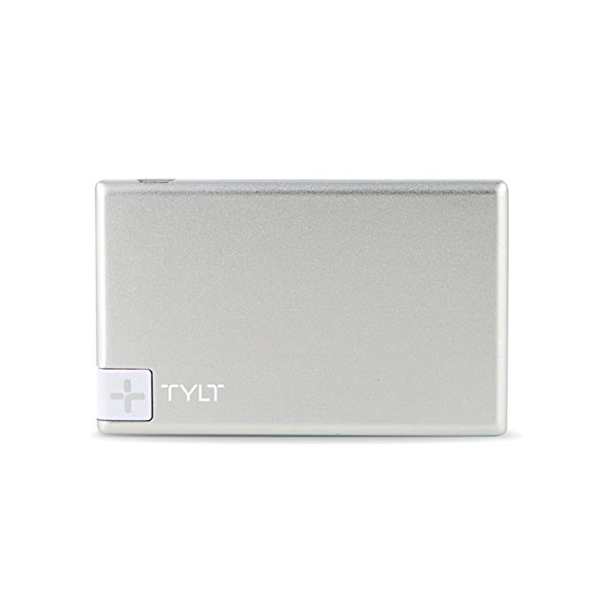 Tylt TYLT 1350mAh Slim Boost Battery Pack with Lightning Cable - Silver