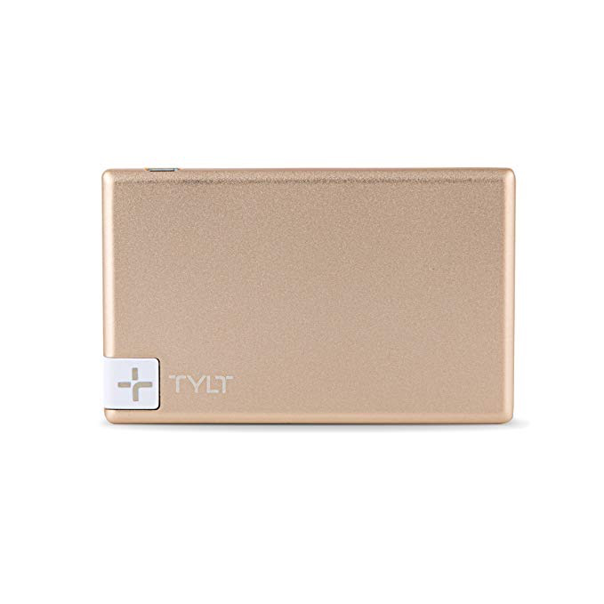 Tylt TYLT 1350mAh Slim Boost Battery Pack with Lightning Cable - Gold