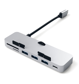 Satechi USB-C Clamp Pro Hub for iMac with USB-C - Silver