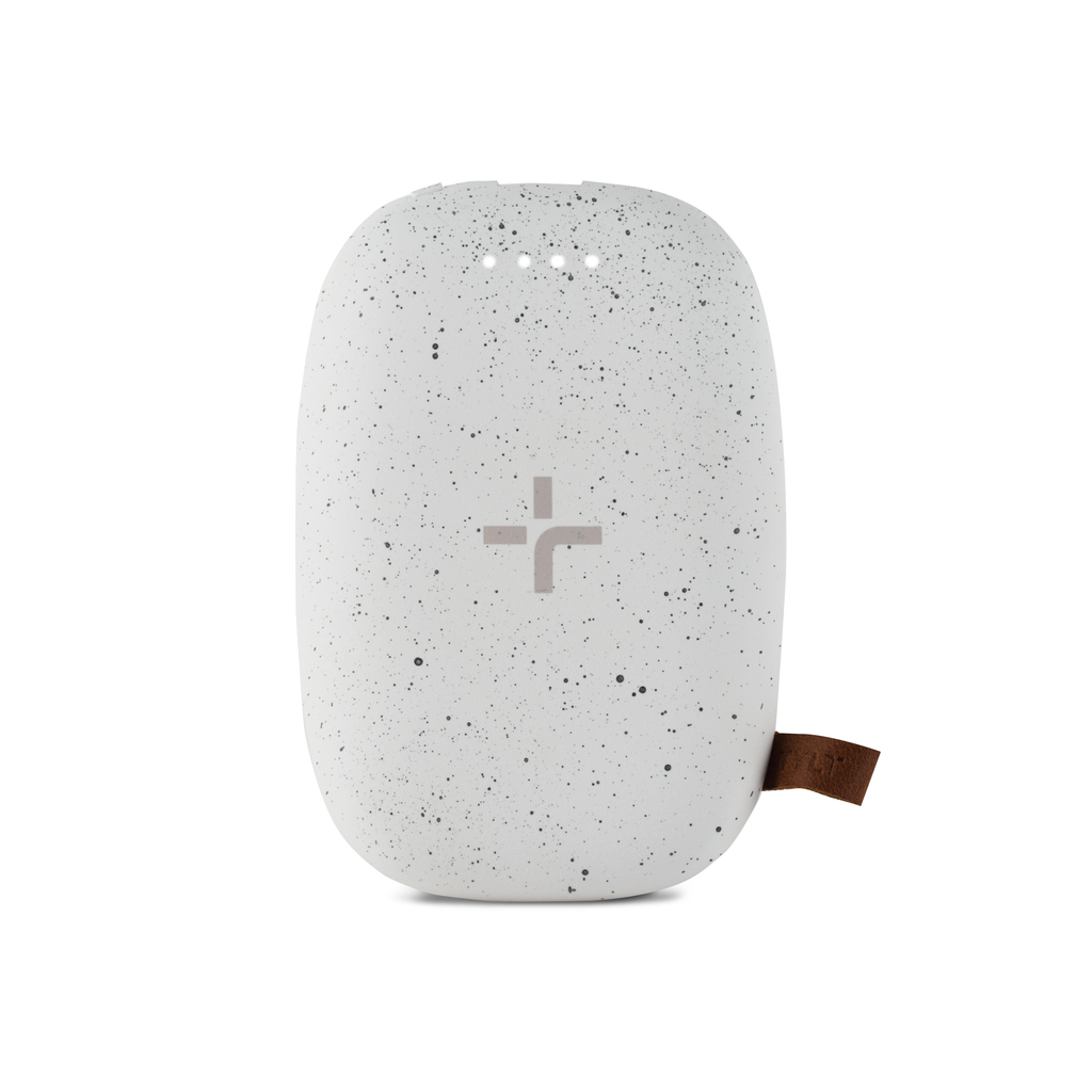 Tylt Tylt 4000 mAh Pebble Qi Charging Pad & Portable Power Bank - White