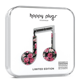 Happy Plugs Happy Plugs Earbud Plus with Remote & Mic - Vintage Roses