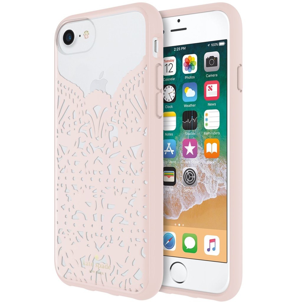 cheap for discount f5fe7 14cc1 kate spade new york kate spade Hardshell Case for iPhone 8/7/6 - Lace  Hummingbird Blush