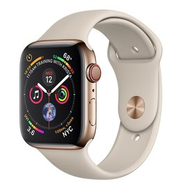 Apple Apple Watch Series 4 GPS + Cellular, 44mm Gold Stainless Steel Case with Stone Sport Band