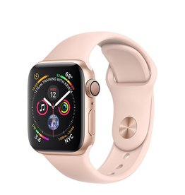Apple AppleWatch Series4 GPS, 40mm Gold Aluminium Case with Pink Sand Sport Band