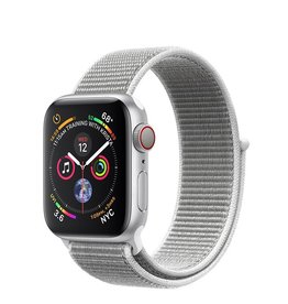 Apple Apple Watch Series 4 GPS + Cellular, 40mm Silver Aluminium Case with Seashell Sport Loop