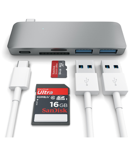 Satechi USB-C Passthrough Hub - Space Gray