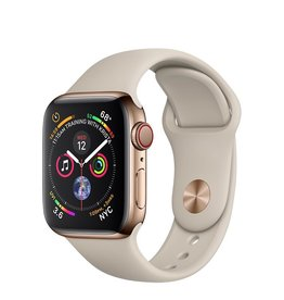 Apple Apple Watch Series 4 GPS + Cellular, 40mm Gold Stainless Steel Case with Stone Sport Band