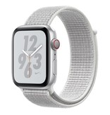 Apple AppleWatch Nike+ Series4 GPS+Cellular, 44mm Silver Aluminium Case with Summit White Nike Sport Loop