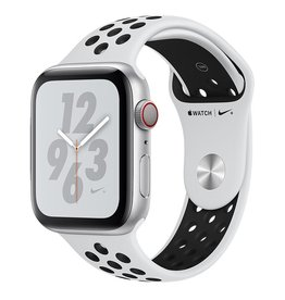Apple Apple Watch Nike+ Series 4 GPS + Cellular, 44mm Silver Aluminium Case with Pure Platinum/Black Nike Sport Band