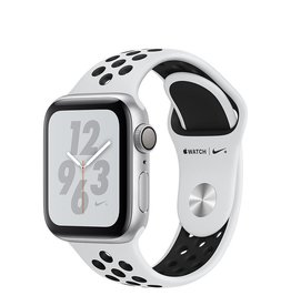 Apple Apple Watch Nike+ Series 4 GPS, 40mm Silver Aluminium Case with Pure Platinum/Black Nike Sport Band
