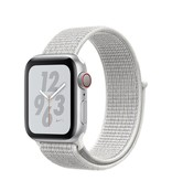 Apple AppleWatch Nike+ Series4 GPS+Cellular, 40mm Silver Aluminium Case with Summit White Nike Sport Loop