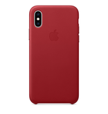 Apple Apple iPhone XS Leather Case - (PRODUCT)RED