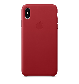 Apple Apple iPhone XS Max Leather Case - (PRODUCT)RED