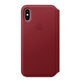 Apple Apple iPhone XS Leather Folio - (PRODUCT)RED