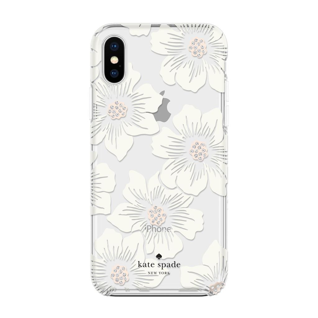 kate spade new york kate spade Hardshell Case for iPhone XS Max - Hollyhock Cream/Blush/Crystal Gems/Clear