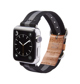 TOMS Apple Watch 38mm Utility Band - Black Stripe