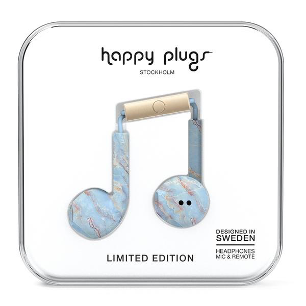 Happy Plugs Happy Plugs Earbud Plus with Remote & Mic - Blue Quartz