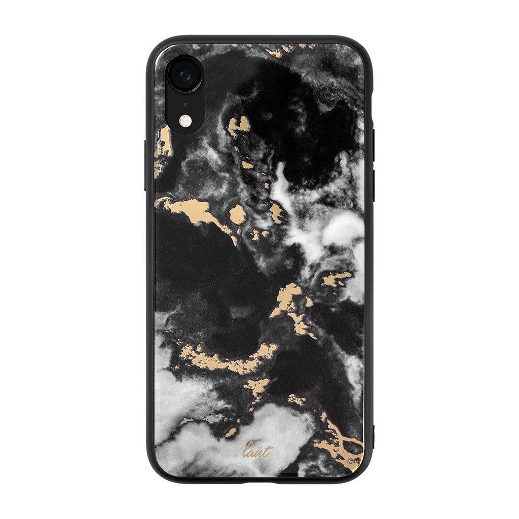 LAUT Mineral Glass Case for iPhone XR - Mineral Black