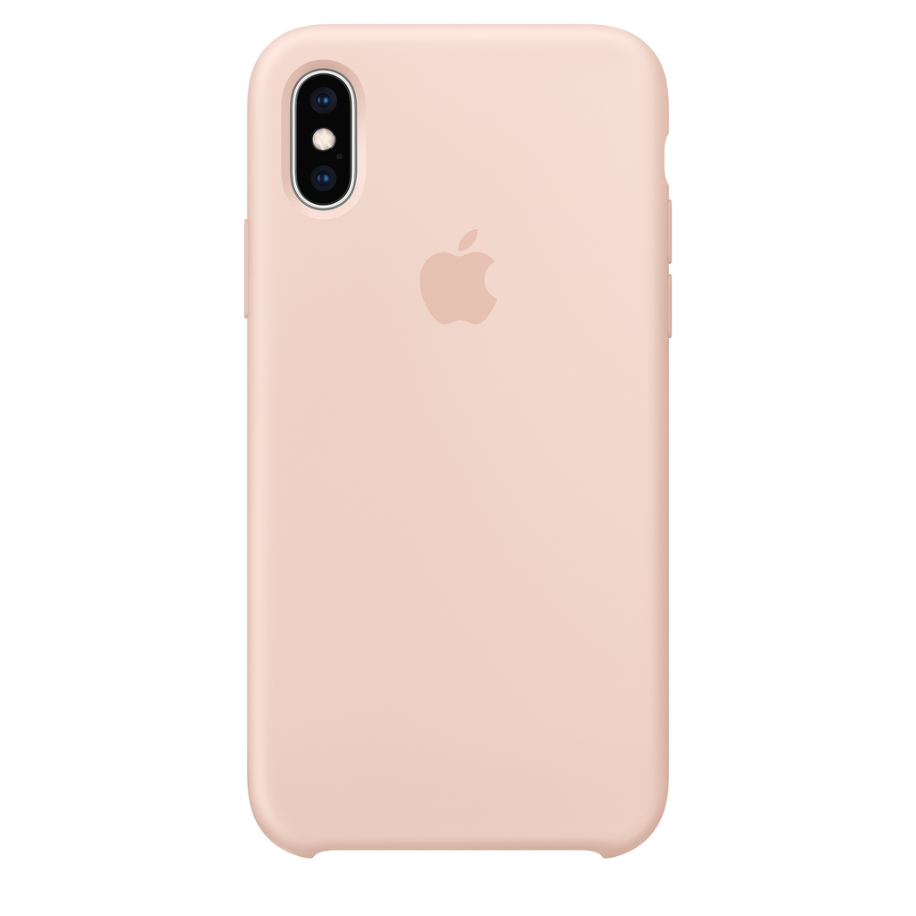 Apple Apple iPhone XS Silicone Case - Pink Sand