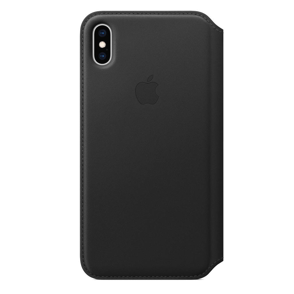 Apple Apple iPhone XS Max Leather Folio - Black