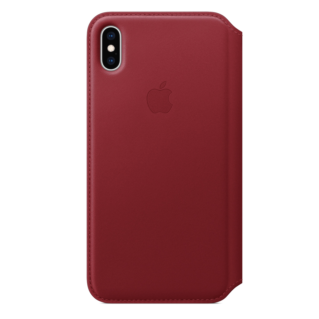 Apple Apple iPhone XS Max Leather Folio - (PRODUCT)RED