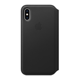 Apple Apple iPhone XS Leather Folio - Black