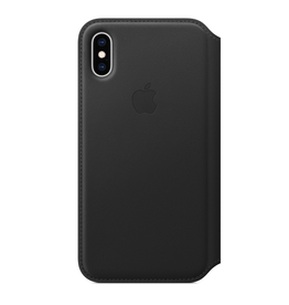 Apple Apple iPhone XS Leather Folio - Black