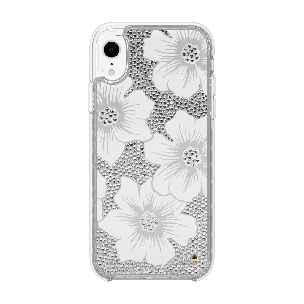uk availability 8bffc 2b370 kate spade new york kate spade Full Clear Crystal Case for iPhone XR -  Hollyhock