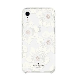 kate spade new york kate spade Hardshell Case for iPhone XR - Hollyhock Cream/Blush/Crystal Gems/Clear