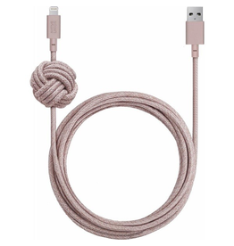 Native Union Native Union 3M USB to Lightning Knot Night Cable - Rose Pink