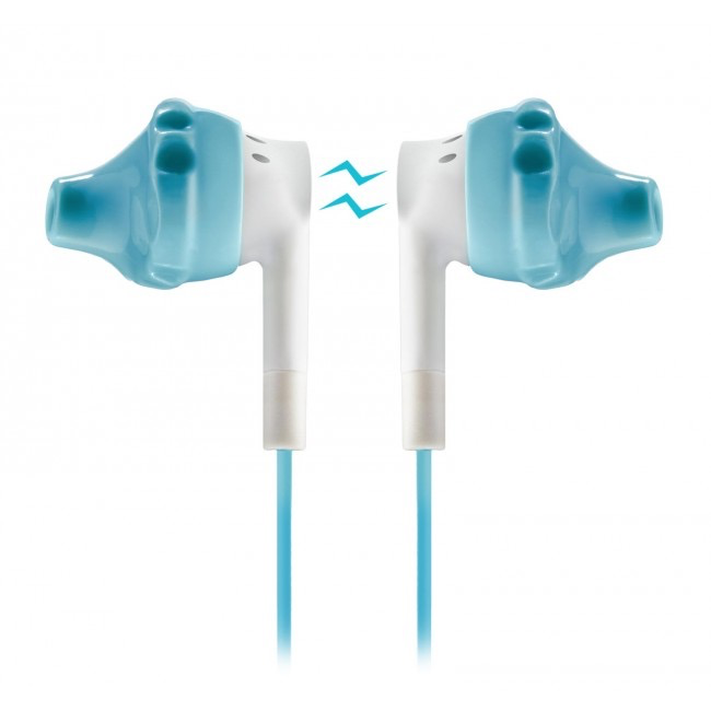 Yurbuds Inspire 300 Sport Headphones + Mic - Aqua / White