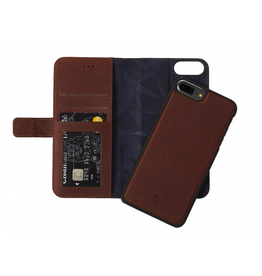 Decoded Decoded 2-in-1 Wallet Case for iPhone 8/7/6 Plus- Cinnamon Brown