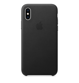 Apple Apple iPhone XS Leather Case - Black