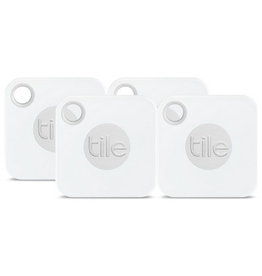 Tile Tile Mate Bluetooth Tracker with Replaceable Battery - 4 Pack