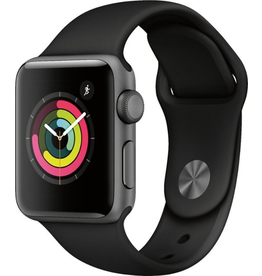 Apple Apple Watch Series 3 GPS, 38mm Space Grey Aluminium Case with Black Sport Band