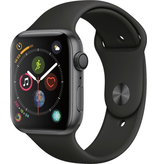 Apple AppleWatch Series4 GPS, 44mm Space Grey Aluminium Case with Black Sport Band
