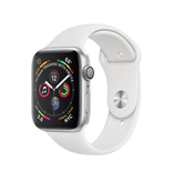 Apple Apple Watch Series 4 GPS, 44mm Silver Aluminium Case with White Sport Band