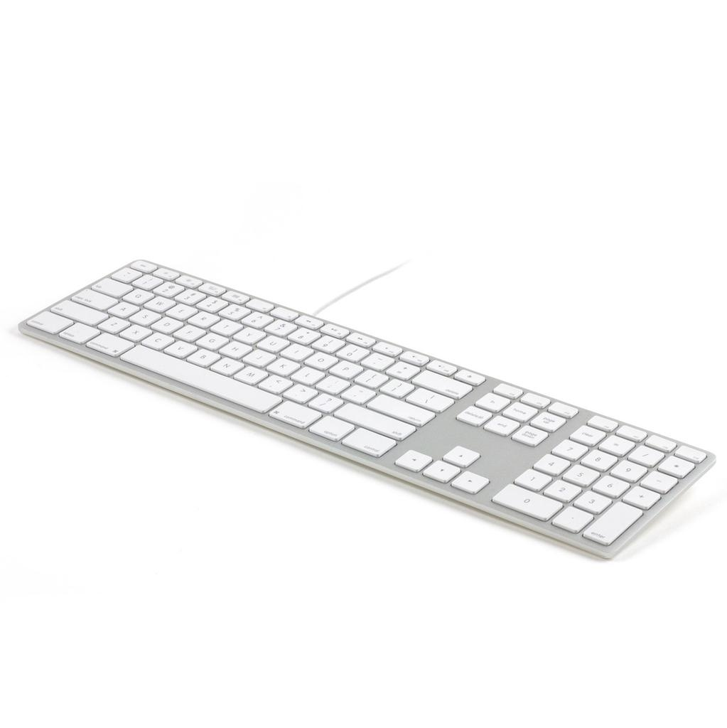 Matias USB Wired Aluminum Keyboard for Mac - Silver