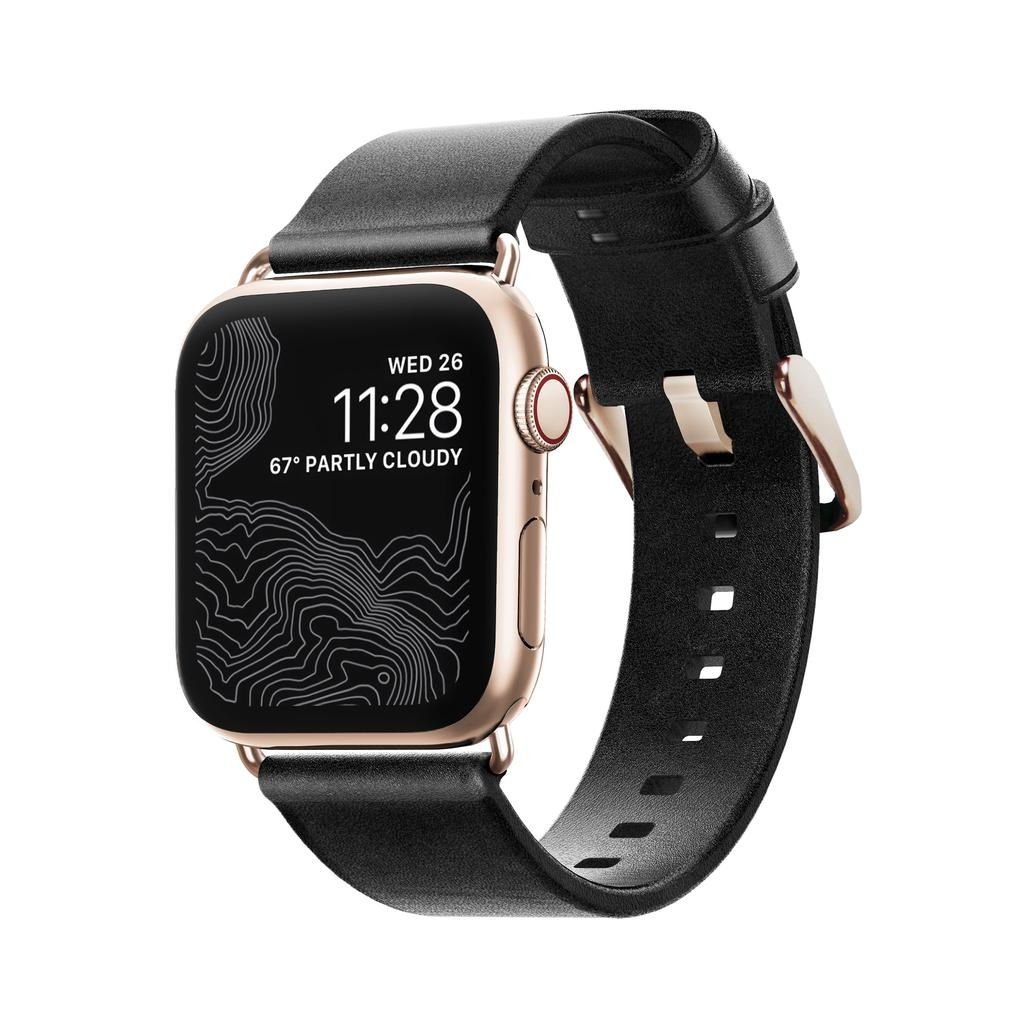 Nomad Nomad 40mm/38mm Modern Strap for Apple Watch - Black / Gold