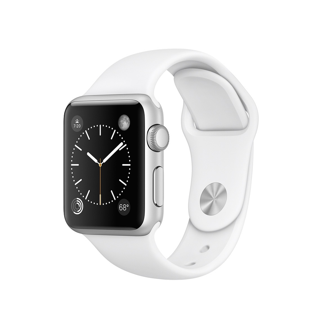 Apple Apple Watch Series 1 38mm Silver Aluminum Case with White Sport Band
