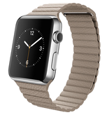 Apple Apple Watch 42mm Stainless Steel with Stone Leather Loop