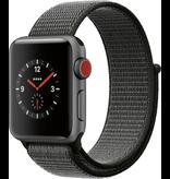 Apple Apple Watch Series 3 GPS + Cellular 38mm Space Grey Aluminium Case with Dark Olive Sport Loop (Open Box)