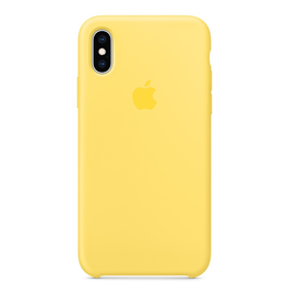 Apple Apple iPhone XS Silicone Case - Canary Yellow