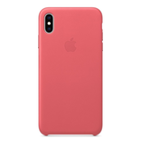 Apple Apple iPhone XS Max Leather Case - Peony Pink