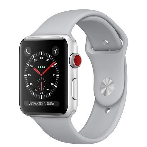 Apple Apple Watch Series 3 GPS + Cellular 42mm Silver Aluminium Case with Fog Sport Band