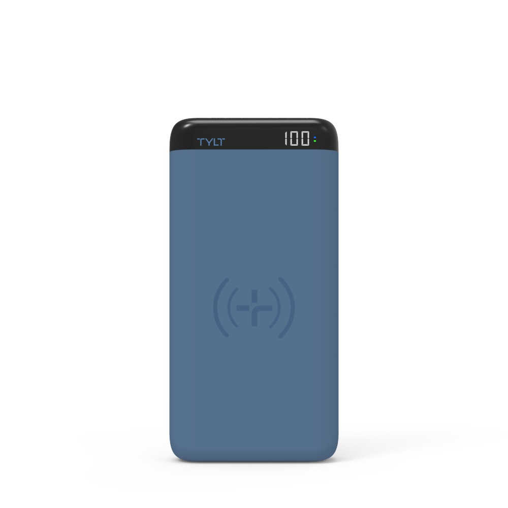 Tylt Tylt 10000mAh Xact 10K Wireless Charging Pad and Power Bank - Blue