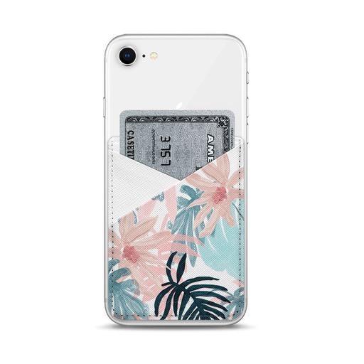 Casetify Saffiano Leather Card Pocket - Pink Spring