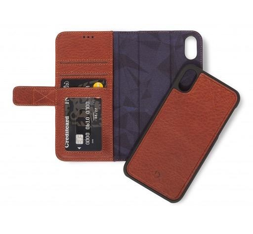 Decoded Decoded 2-in-1 Wallet Case for iPhone XR -  Cinnamon Brown