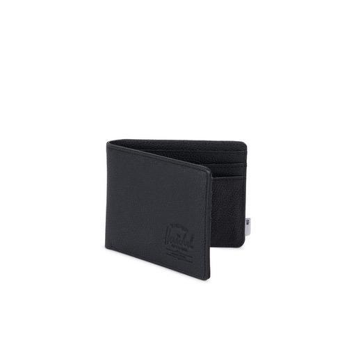Herschel Supply Herschel Supply Roy Leather Wallet + Tile - Black Pebble