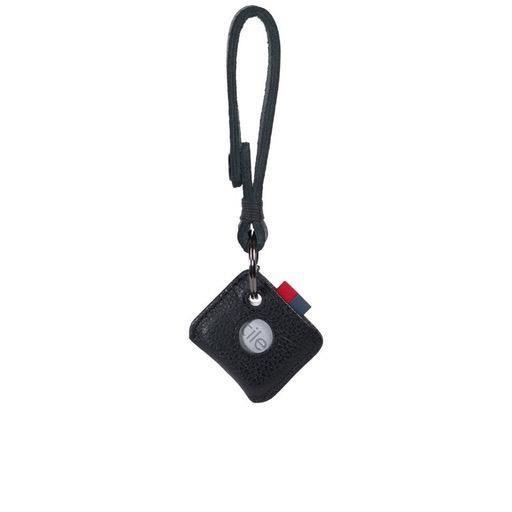 Herschel Supply Herschel Supply Leather Keychain + Tile - Black Pebble